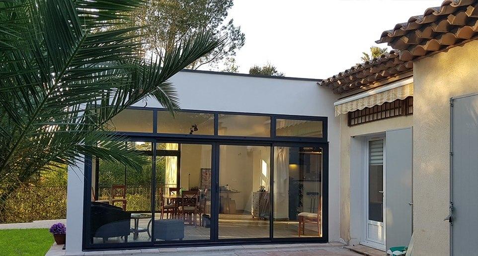 extension veranda toit plat