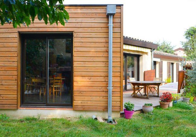 Extension cube en bois près de Toulouse