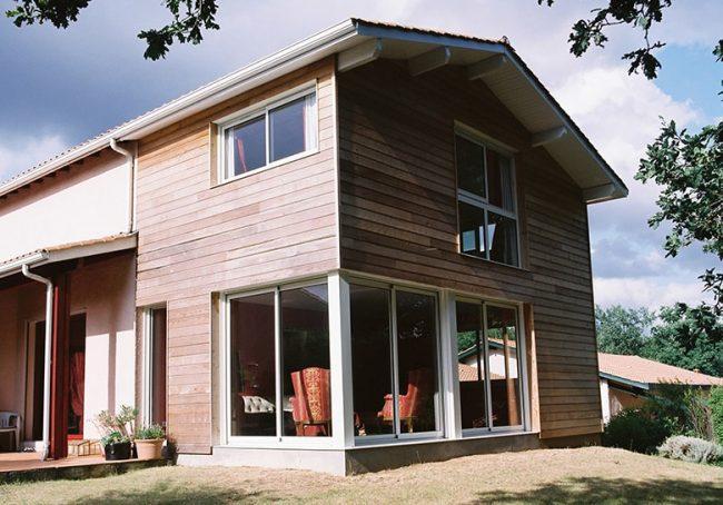 Extension de maison en bois sur 2 étages à Bordeaux