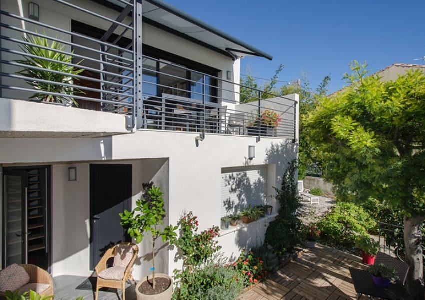 Extension de maison toit terrasse à Sète