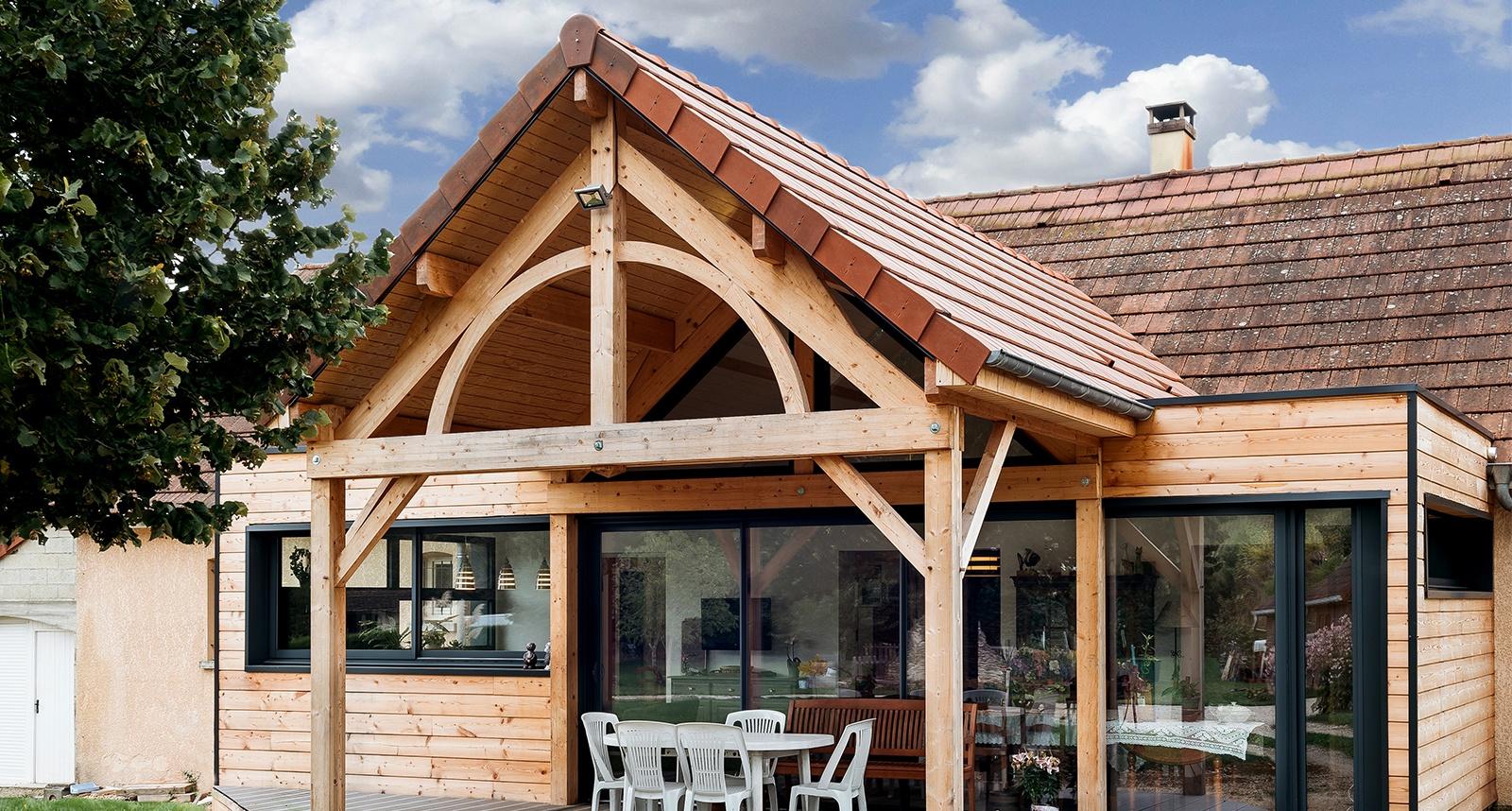 Maison Ossature Métallique Contemporaine agrandir votre maison : l'ossature bois ou métallique ?, nos