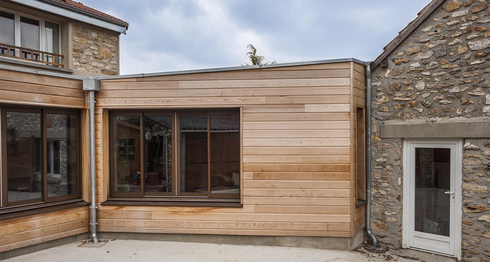 Devis Extension Maison à Les Ulis → Agrandissement Bois, Acier, Parpaing