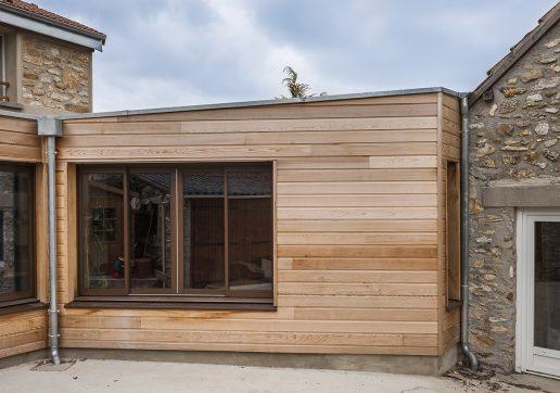 Prix extension ossature bois avec toit plat