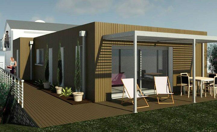 agrandissement maison bardage bois
