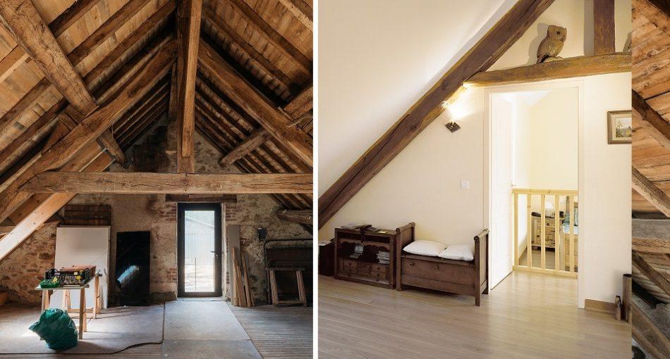 Aménagement de grenier : avant/après - Agrandir ma maison