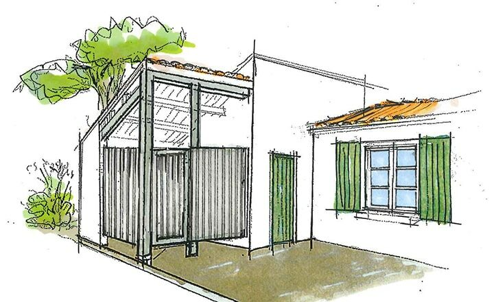 esquisses plans extension maison