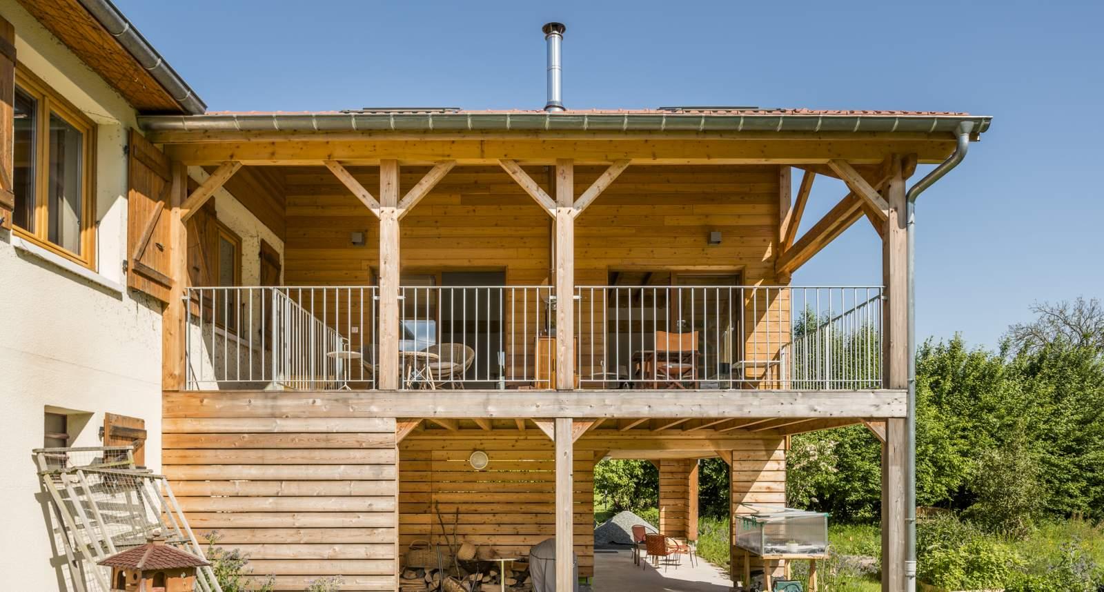 extension bois sur pilotis prix agrandir ma maison