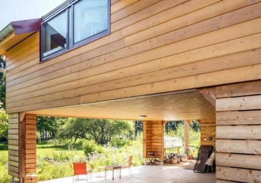 exemples extension de maison en bois
