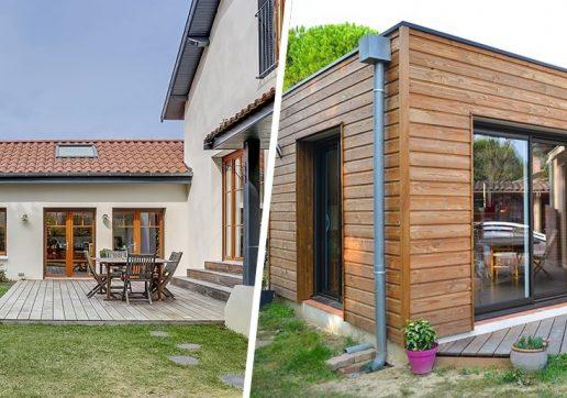 extension bois ou beton