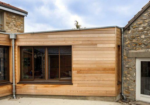 extension bois toit plat