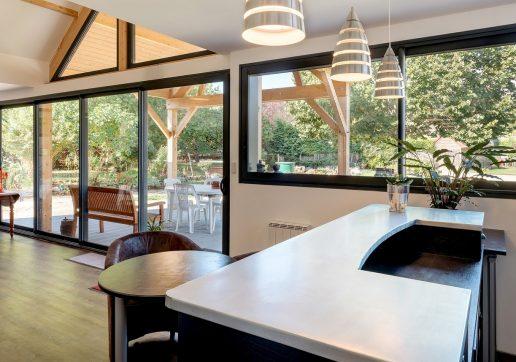 extension cuisine véranda bois