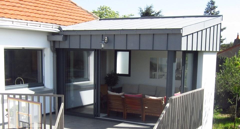 zoom sur l'extension maison acier - agrandir ma maison