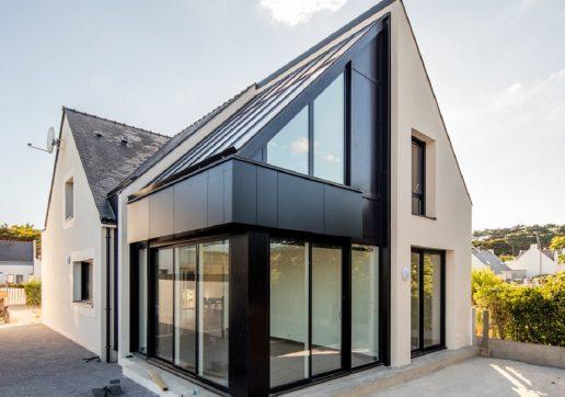 extension maison avec baie vitrée