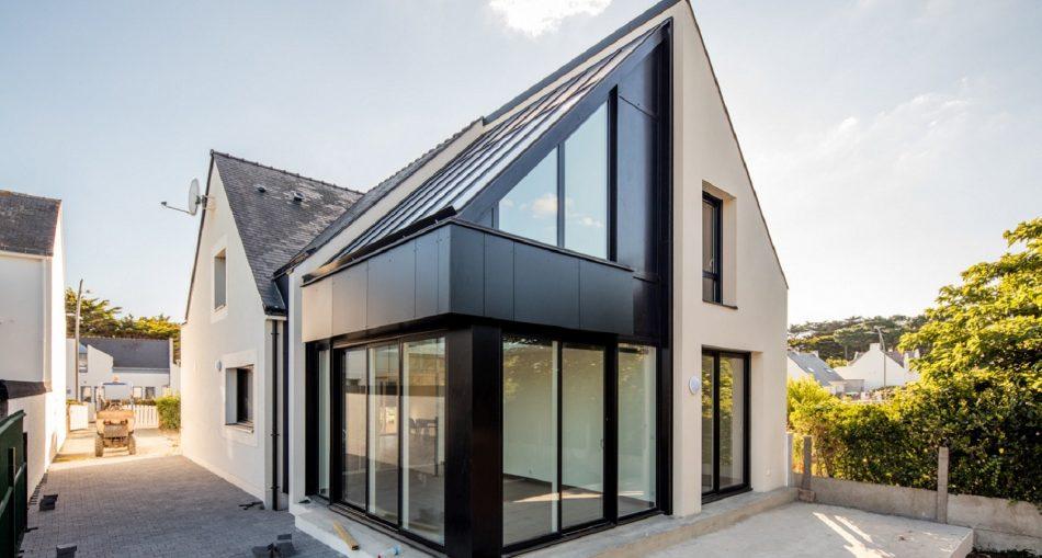 Focus sur: extension maison avec baie vitrée
