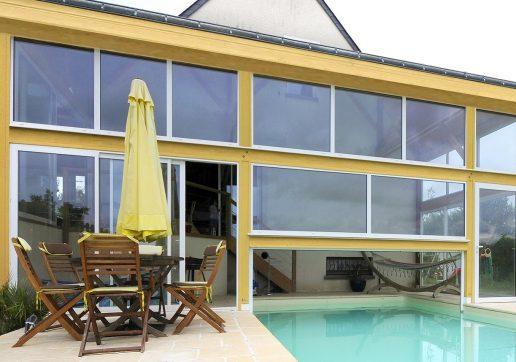 extension maison avec piscine couverte