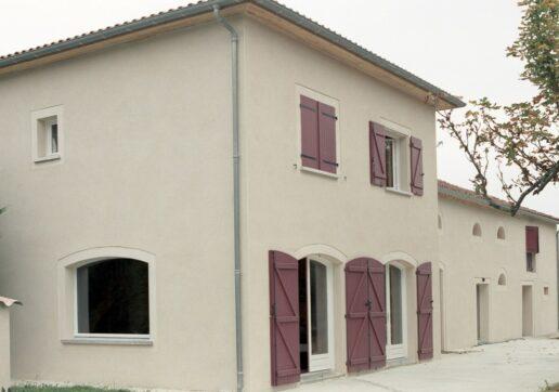 extension maison avec une tour