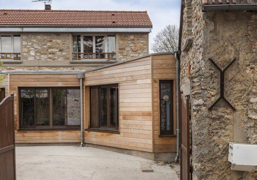 extension maison cube bois