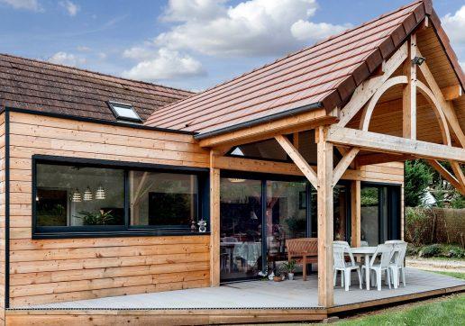 extension maison sur terrasse béton