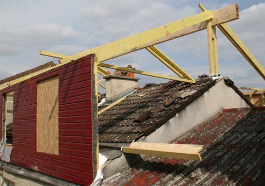 extension ossature bois ou metallique