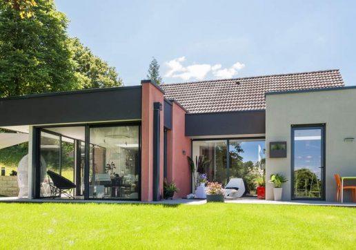 idée extension maison toit plat