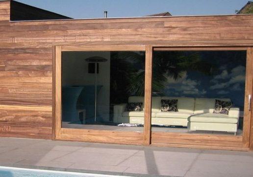 extension veranda bois toit plat