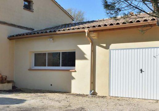 extension - garage accolé à la maison