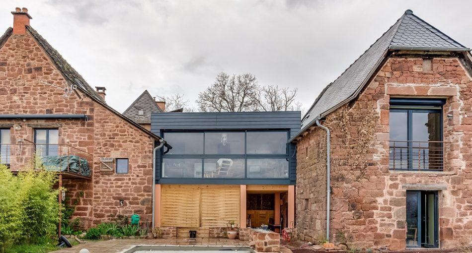 Maison ancienne avec extension moderne - Agrandir ma maison