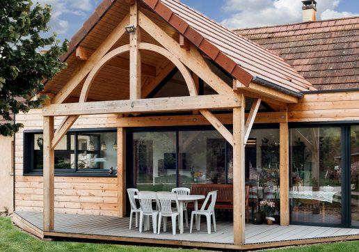 modele extension maison bois