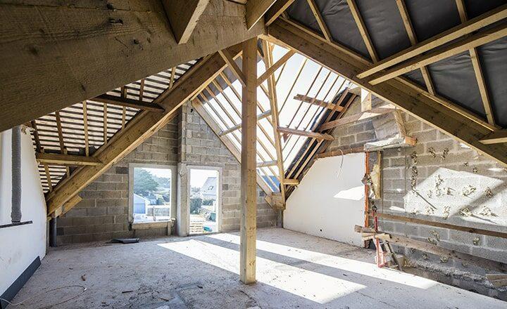 montage charpente bois extension maison