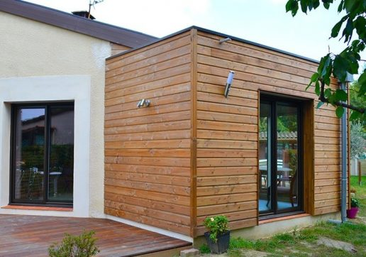 petite extension bois pour maison