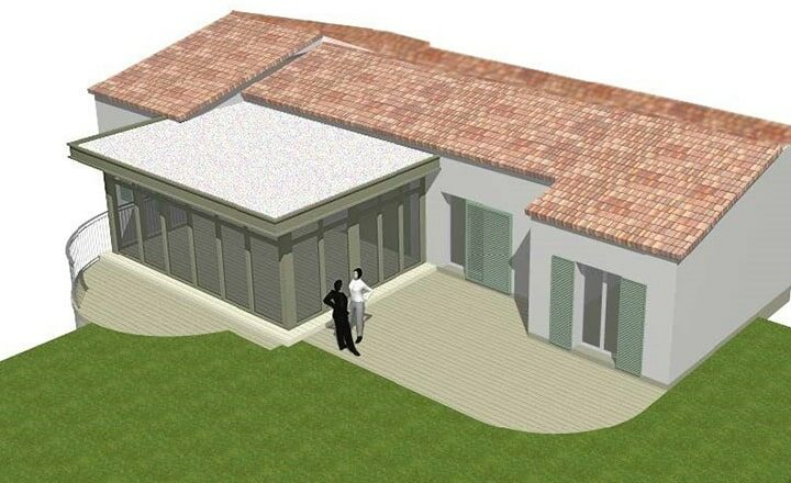plan 3D extension verriere