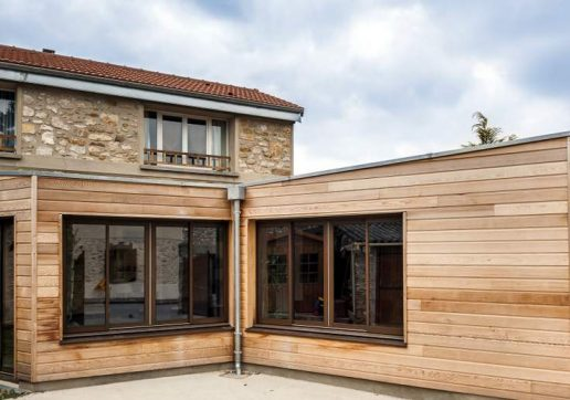 plan extension maison 40 m2