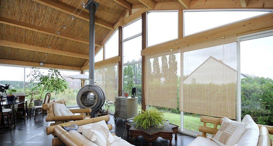 La véranda ossature bois: chaleureuse et économe !