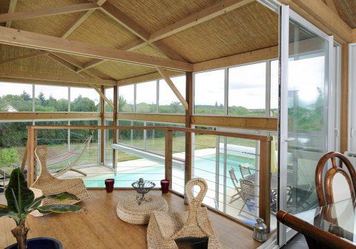 veranda sur terrasse bois